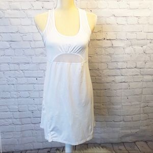 Lina white racerback tank top athletic dress